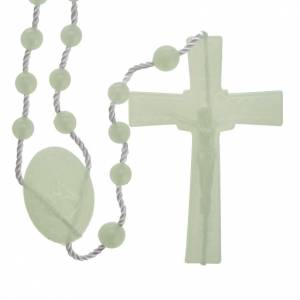 Economical rosaries: Fluorescent nylon rosary