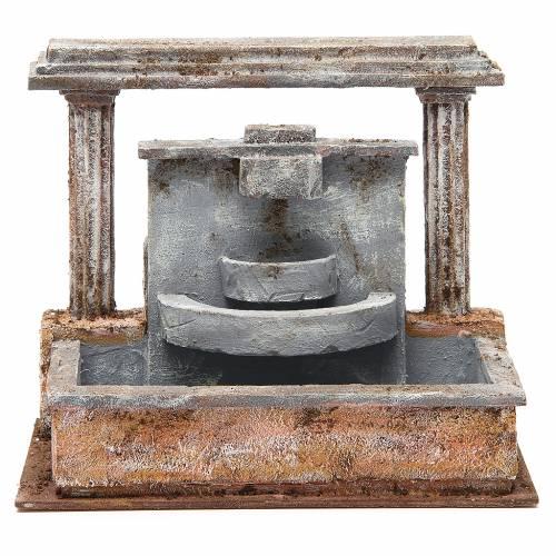 Fontaine crèche 2 colonnes effet chutes d'eau 20x25x15 cm s1