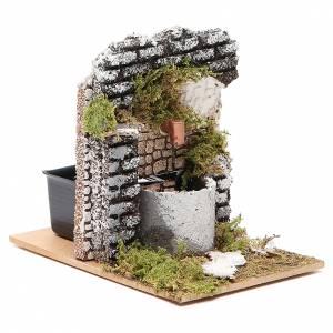 Fontaine crèche bois et liège 12x15x10 cm modèles assortis s3