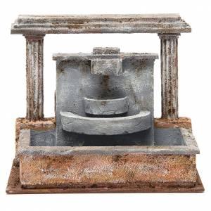 Fontana presepe 2 colonne effetto cascata 20x25x15 cm s1
