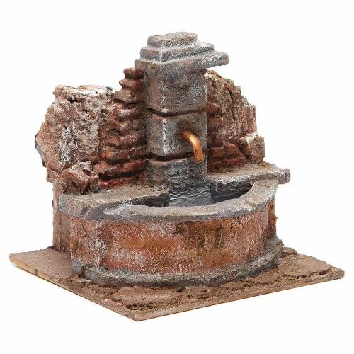 Fontana presepe elettrica nella roccia 18x16x16 cm s3