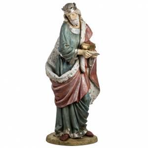 Krippenfiguren: Fontanini heiliger König weiss Harz 180 cm