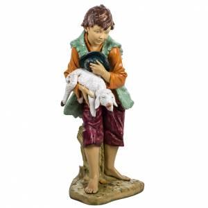 Krippenfiguren: Fontanini Krippe Kind mit Lamm 125 cm
