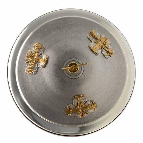 Fonte battesimale in bronzo dorato argentato s5