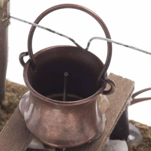 Fuego con humo verdadero y líquido humo s3