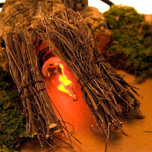 Fuego pesebre con ramitas y cabaña 20x14x16 s2