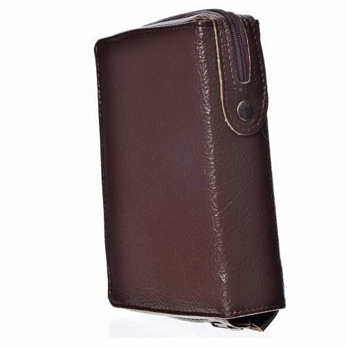 Funda Biblia CEE grande marrón oscuro simil cuero S. Trinidad s2