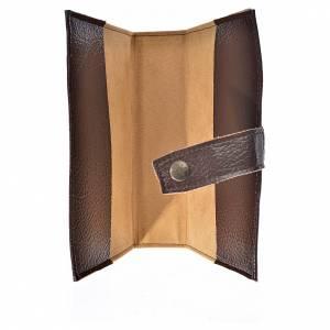 Funda Biblia CEE grande simil cuero S. Familia marrón oscuro s3