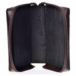 Funda Sagrada Biblia CEE ED. Pop. marrón oscuro simil cuero Virg s3