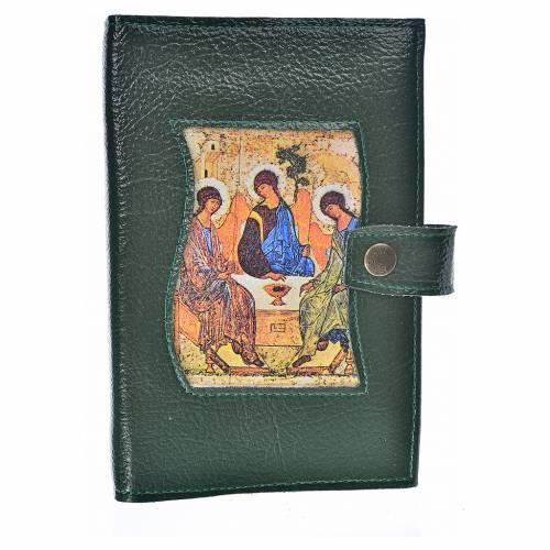 Funda Sagrada Biblia CEE ED. Pop. verde simi cuero Trinidad s1