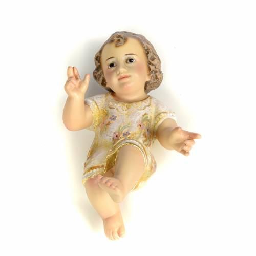 Gesù Bambino 15 cm in pasta di legno dec. extra s1