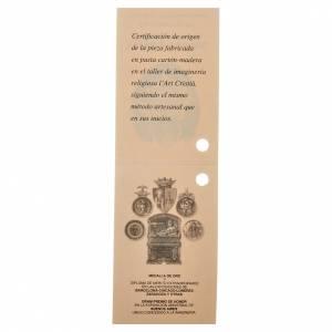 Gesù Bambino 35 cm in pasta di legno dec. fine s6