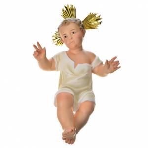 Statue Gesù Bambino: Gesù Bambino 35 cm in pasta di legno dec. fine