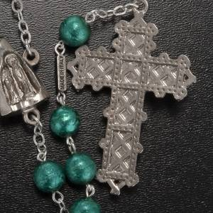 Ghirelli green rosary Our Lady of Lourdes, opaque glass 8 mm s2