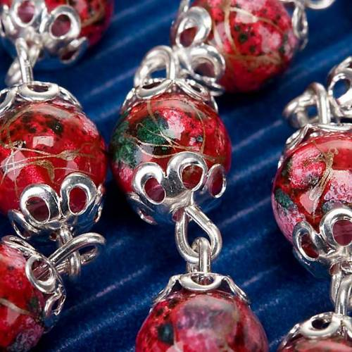 Ghirelli red glass rosary s3