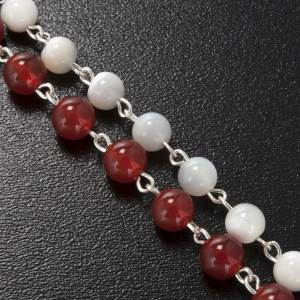 Ghirelli rosary, Agate and mother of pearl Sacred Heart and Merc s5