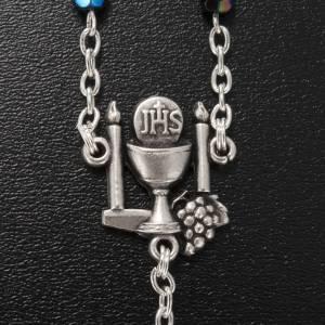 Ghirelli rosary, black First Communion, 5mm s5