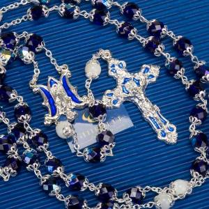 Ghirelli rosary blue and mother-of-pearl beads s5