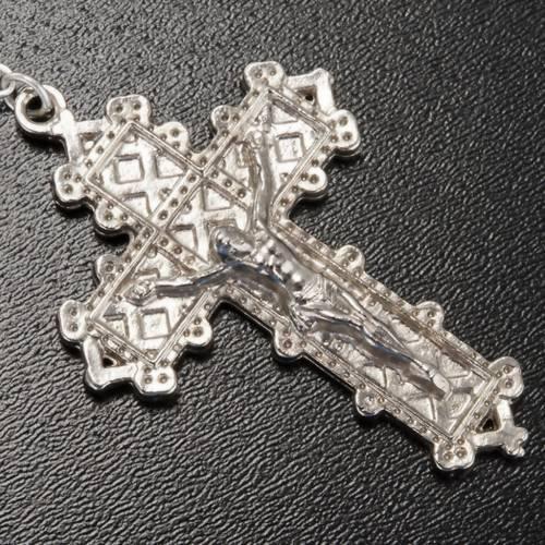 Ghirelli rosary, grey enamelled glass, Lourdes grotto 8mm s5