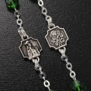 Ghirelli rosary Knock half-crystal green 7 mm s4