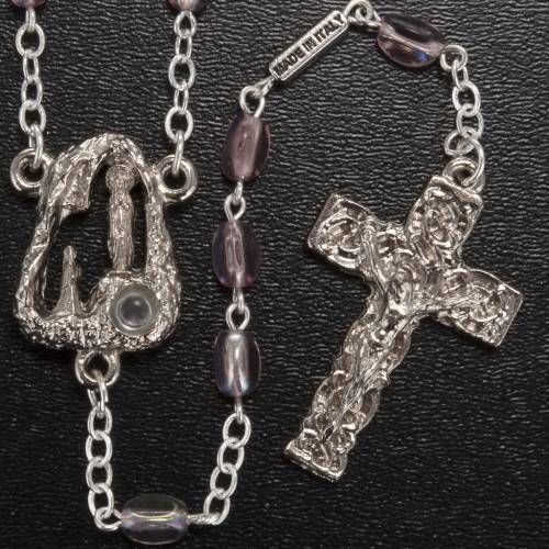 Ghirelli rosary Lourdes Grotto, pink glass 6mm s2