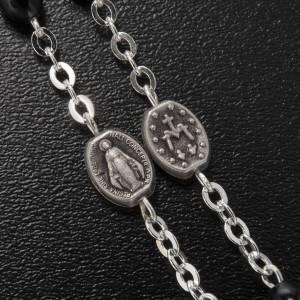 Ghirelli rosary, St. Joseph black glass 4x6mm s5
