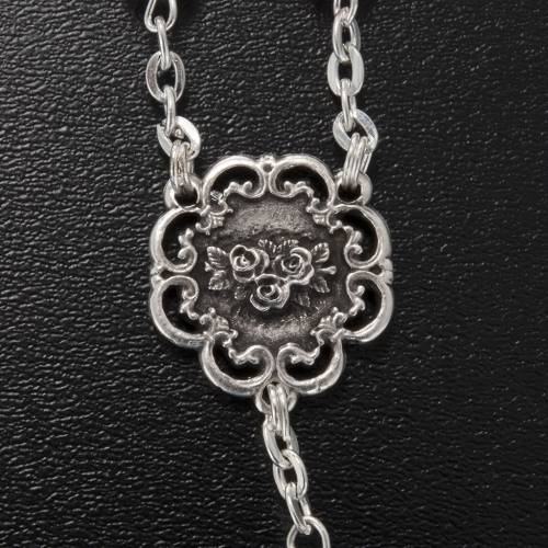 Ghirelli rosary with Virgin Lady and roses 6 mm s3