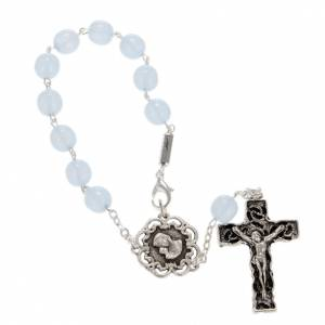 Ghirelli collection rosary beads: Ghirelli single-decade rosary, glass with Our Lady and baby 8mm