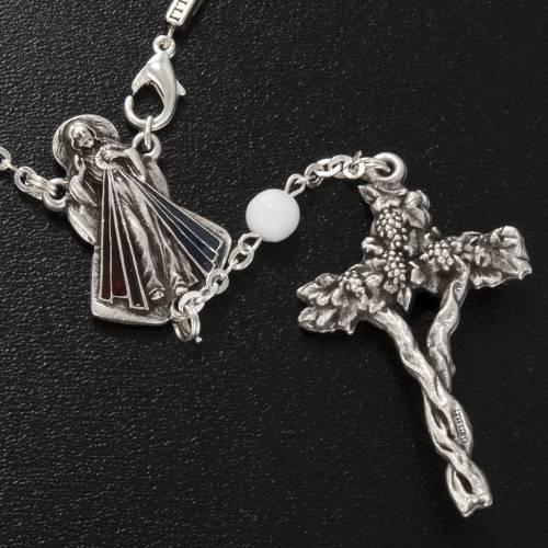 Ghirelli single-decade rosary, red Bohemia glass 6mm s4