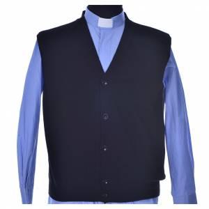 Vestes, gilets, pullovers: Gilet noir ouvert 100% cachemire