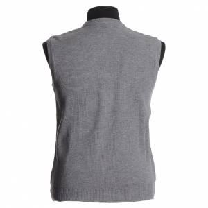 Vestes, gilets, pullovers: Gilet ras du cou gris clair