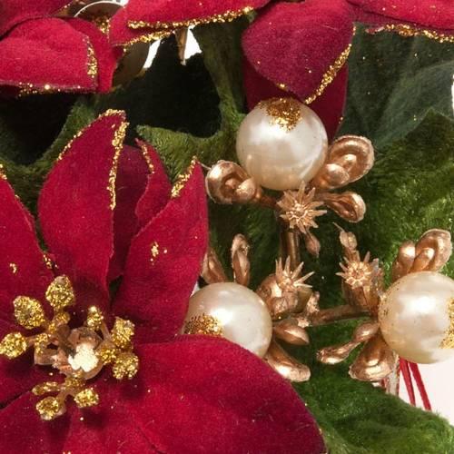 Girocandela con stella di Natale e bacche addobbo Natale s2