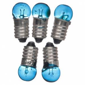 Lichter und Laterne für Krippe: Glühbirne E10 blau 5 Stk. 3,5-4,5v.