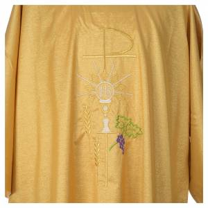 Gold dalmatic with embroided Chi-Rho chalice host s4