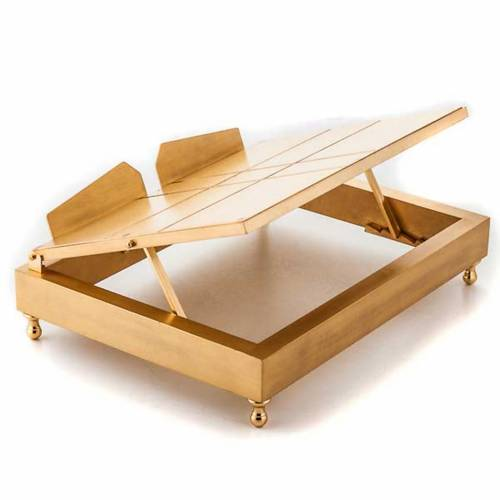 Gold-plated brass book stand s2