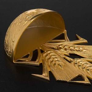 Golden Holy Water font with ears of wheat s4
