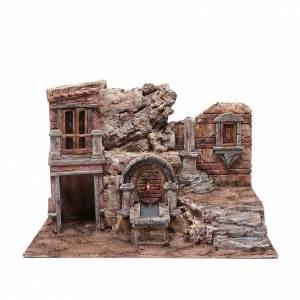 Capanne Presepe e Grotte: Grotta presepe con fontana e scale 35x50x30 cm
