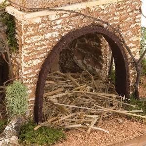 grotte pour crèche avec village illuminé, 30x42x30 s4