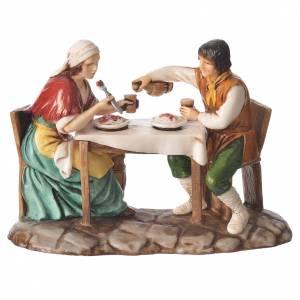 Groupe homme et femme à table 10 cm Moranduzzo s1