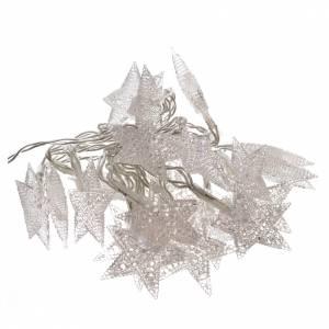 Guirlande de Noël 20 étoiles leds blanc glace intérieur s1