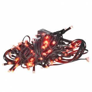 Guirlande lumineuse 96 leds programmables rouges int/ext s1