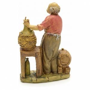 Krippenfiguren: Handwerk mit Korbflaschen 13 Zentimeter