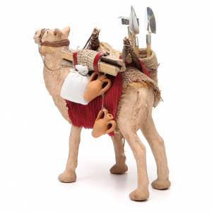 Harnessed camel for Neapolitan nativity 14cm s2