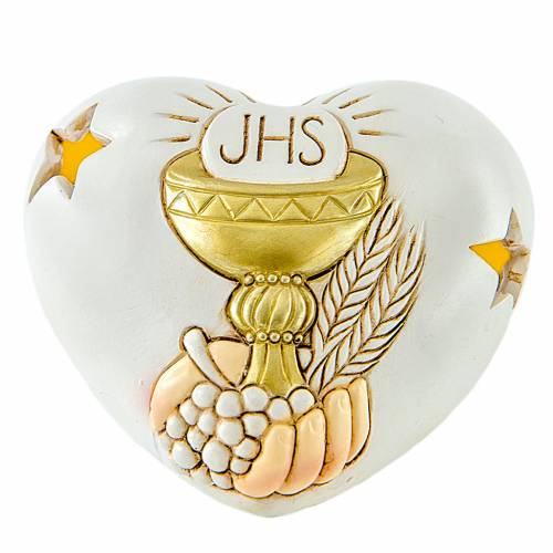 Heart with LED First Communion 7cm s1