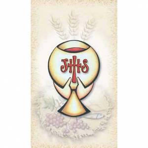 Heiligenbildchen: Heiligenbildchen Erstkommunion, Kelch und IHS