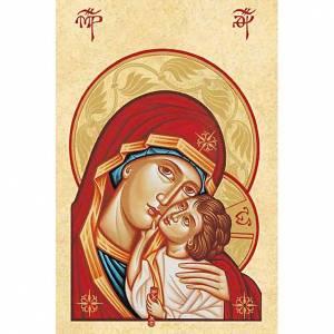 Heiligenbildchen: Heiligenbildchen Gottesmutter der Zärtlichkeit weißer