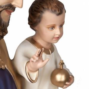 Fiberglas Statuen: Heiligenfigur Josef mit Jesuskind Fiberglas, 160 cm