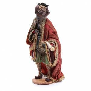 Krippenfiguren von Angela Tripi: Heiliger König Tripi Angela schwarz 30 cm gebrannter Ton