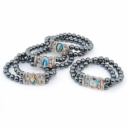 Hematite multi-image bracelet 1