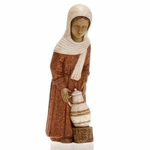 Krippe Bethlèem: Hirtenmädchen mit Amphore und rotem Kleid Bäuerliche Krippe
